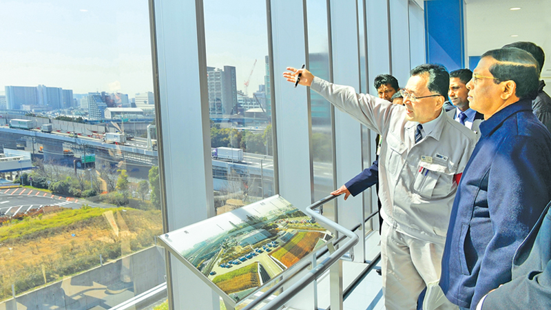 President Maithripala Sirisena at the Incineration Plant in Tokyo. Picture by Sudath Silva.