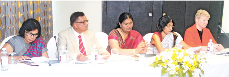 Libuse Soukupova, Sonali Wijeratne, Mohamad Saeed, Dhara Wijayatilake and  P.S.M. Charles at the event. Picture by Chaminda Niroshana