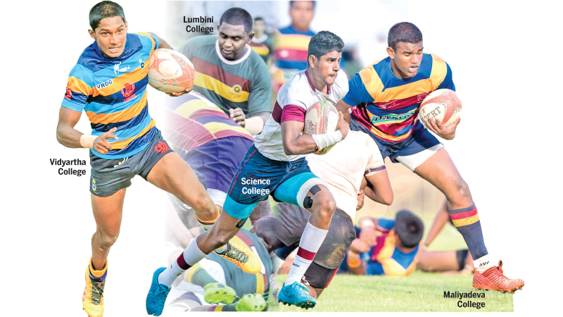 Four teams vie for inter-schools 'B' division rugby league