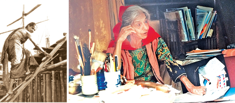 Minnette de Silva in her studio at St. George's (November 5, 1997), Kandy.