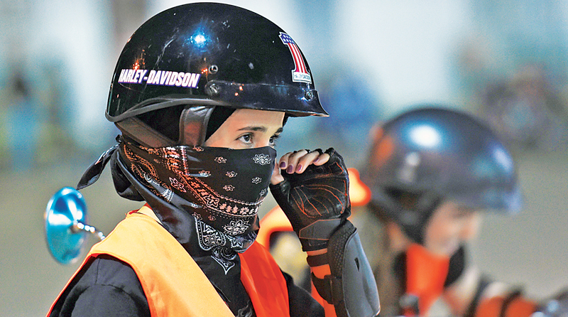Courses on basic motorbike riding for women began in Riyadh in February and four signed up. AFP