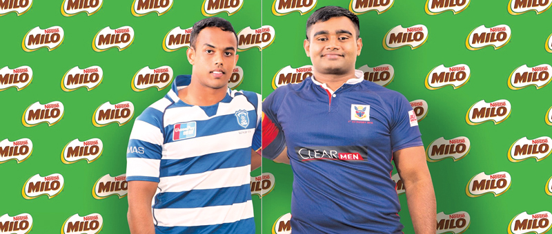 Sameesha Verangana (St Joseph's College captain (on left) and Tharindu Waligampala (Kingswood College captain)