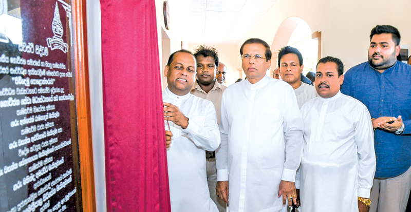 President Maithripala Sirisena opening the Welikanda New Agrarian Services Centre. Picture by President's Media.