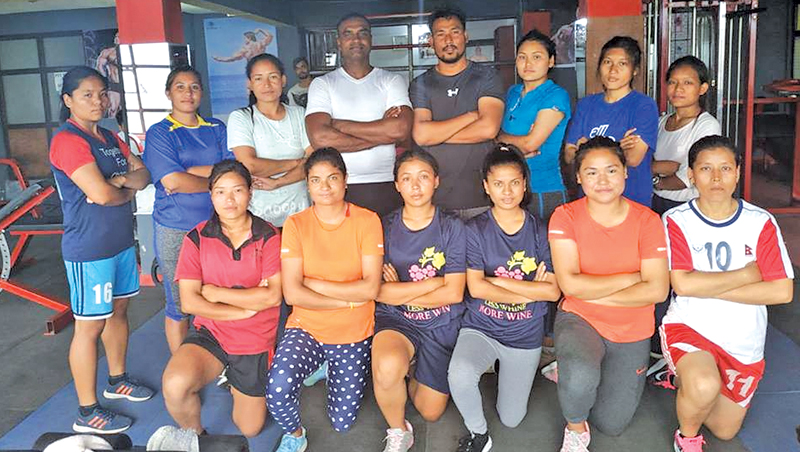 Radhika Hettiarachchi is seen here with the Nepal National players