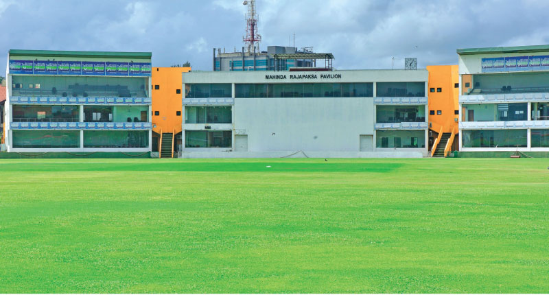 The picturesque Galle International Cricket Stadium with its new pavilion.