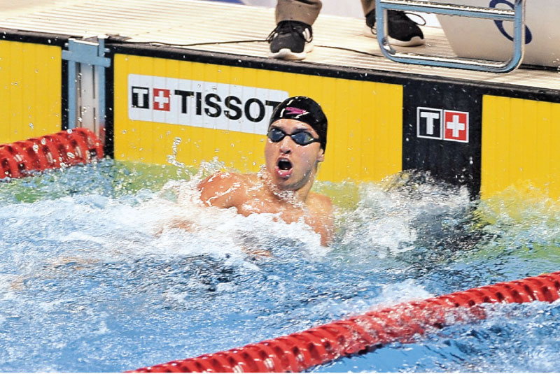 Matthew Abeysinghe came up with the highest achievement by a Sri Lankan swimmer at the Asian Games.