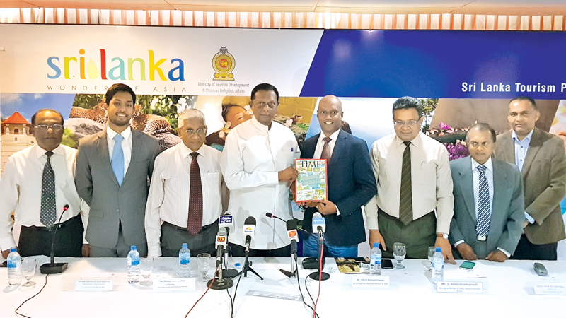 Minister John Amaratunge and Founder and CEO of Santani Vikum Nawagamuwage with other officials. Picture by Sudath Malaweera