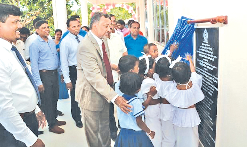 Southern Province Education Minister Chandima Rasaputhra opens Primary Teaching Resource Centre.