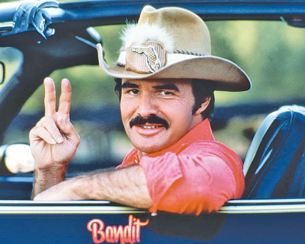 Burt Reynolds in a scene from the movie 'Smokey And The Bandit'.