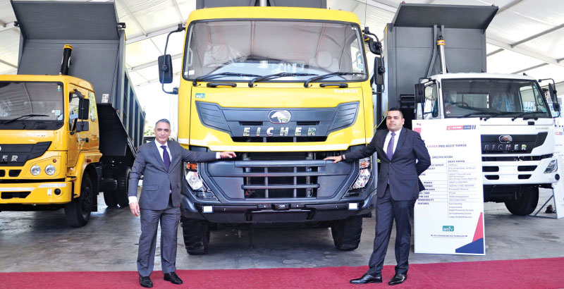 Officials with the new range trucks and buses