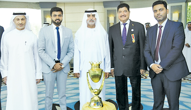 Unimon Asia Cup 2018 Trophy unveiled in Abu Dhabi : The Unimoni Asia Cup 2018 trophy was unveiled at a quiet ceremony in Abu Dhabi by His Highness Sheikh Nahyan bin Mubarak Al Nahyan, Cabinet Member and Minister of Tolerance and Emirates Cricket Board Chairman. Khalid Al Zarooni, Emirates Cricket Board Vice-Chairman, Mubashshir Usmani, General Secretary, Emirates Cricket Board, Prabhakaran Thanraj, Marketing Manager, Board of Control for Cricket in India (BCCI) (who attended on behalf of both the BCCI and t