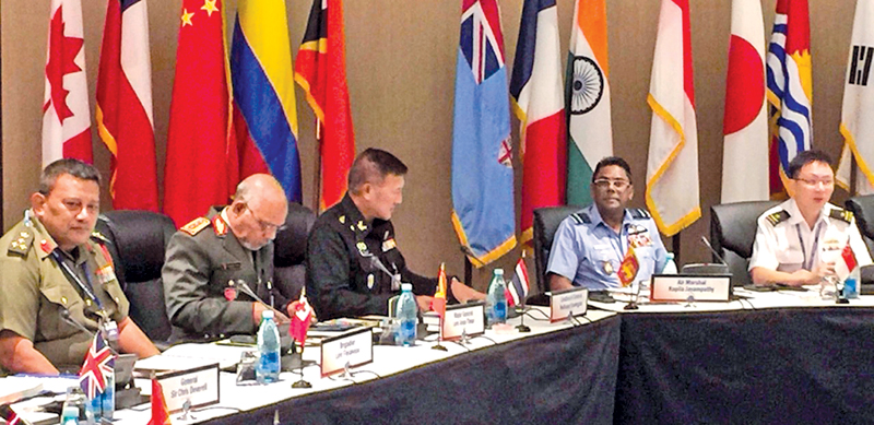 SLAF Commander Air Marshal Kapila Jayampathy at the conference in Honolulu.