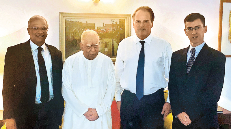 Tamil National Alliance R, Sampanthan and the Minister of State for Asia and the Pacific Mark Field, met at the Westminster House in Colombo.
