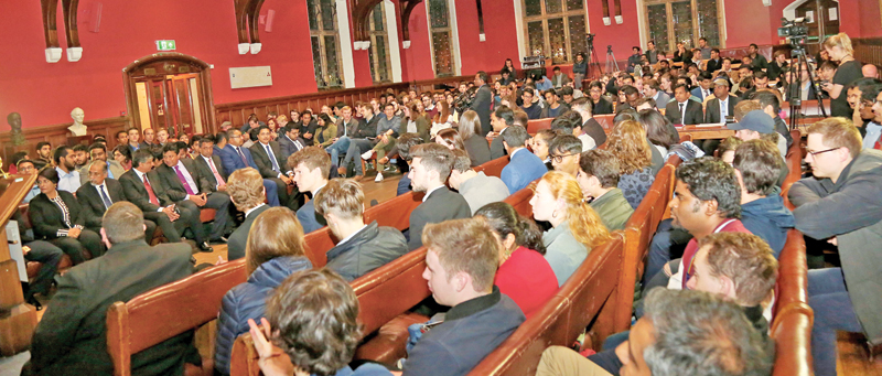 The audience at the Oxford Union.
