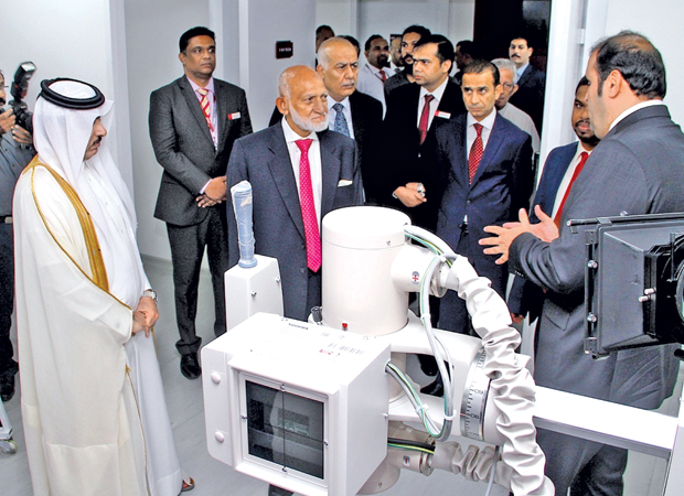 The first Qatar Visa Center was opened by Qatar's Ambassador in Colombo Dr. Rashid bin Shafea Al-Marri in Colombo. Labour and Trade Union Relations Minister Ravindra Samaraweera and National Unity and Reconciliation Minister A.H.M Fowzie were present. Picture by Sulochana Gamage.