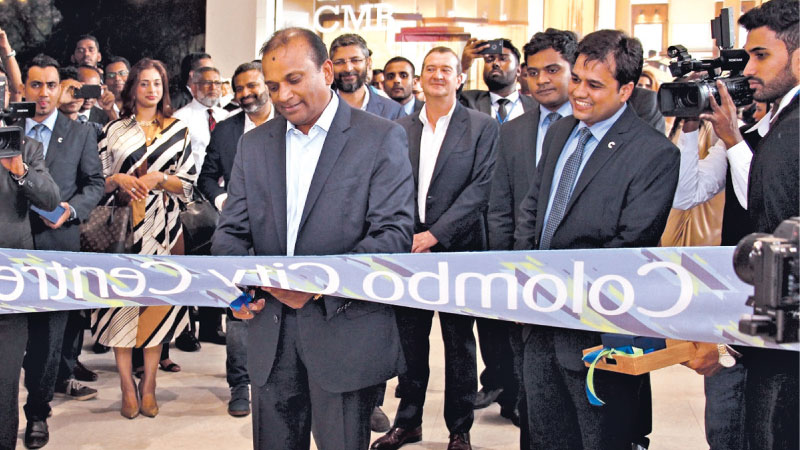 Softlogic Holdings Chairman and CEO Ashok Pathirage, opens the Swarovski store at the Colombo City Centre.