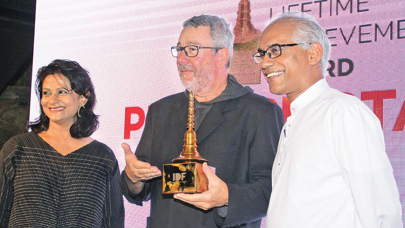 State Minister of Finance, Eran Wickramaratne,  Philippe Starck and Rajshree Pathy