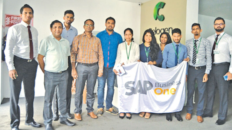 Celogen Lanka (Pvt) Ltd and Perfect Business Solution officials after signing the MoU recently