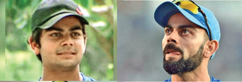 Virat Kohli - from being a chubby young boy, to now one of the fittest athletes in the game.