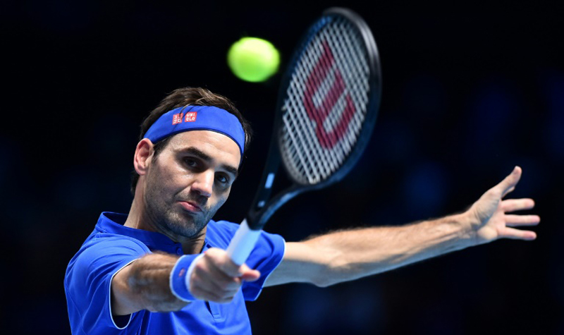 Roger Federer beat Kevin Anderson in straight sets to reach the semi-finals of the ATP Finals. AFP