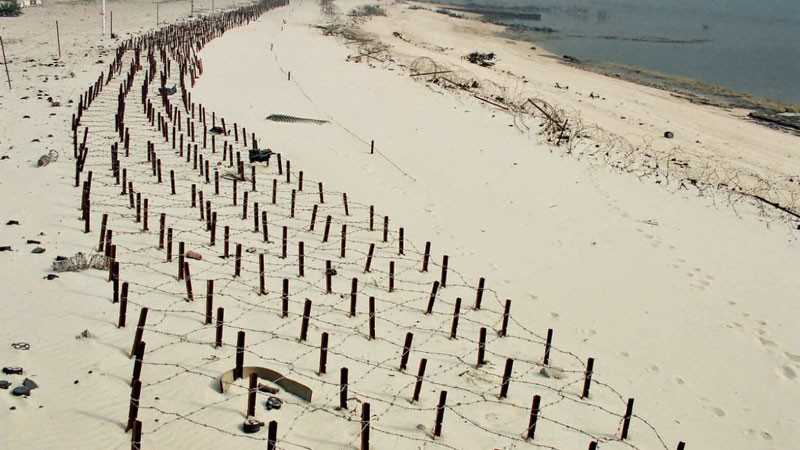 During Iraq's 7- month long occupation of Kuwait from 1990-1991, it is estimated that Iraqi troops laid 5 million land mines in Kuwait's desert sand.