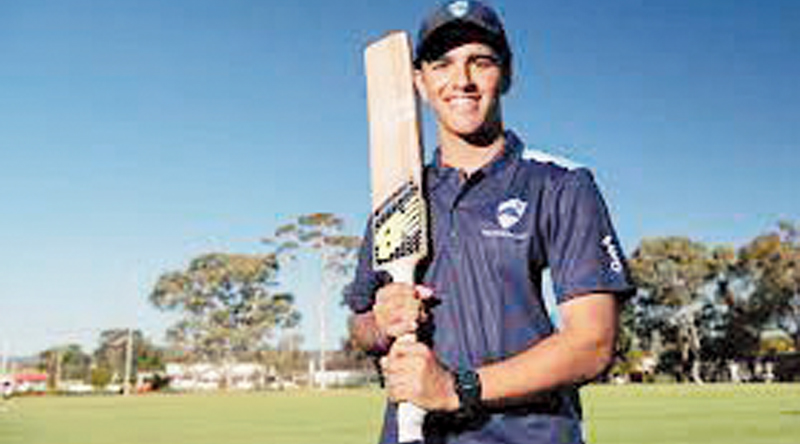 Australian teenager smashes six sixes in an over
