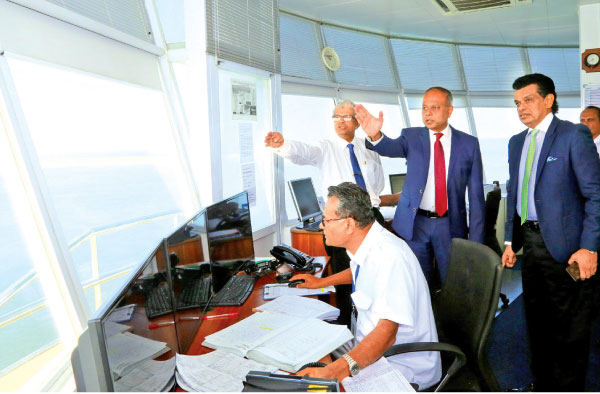 Minister of Ports, Shipping and Southern Development,  Sagala Ratnayaka visits Colombo Port