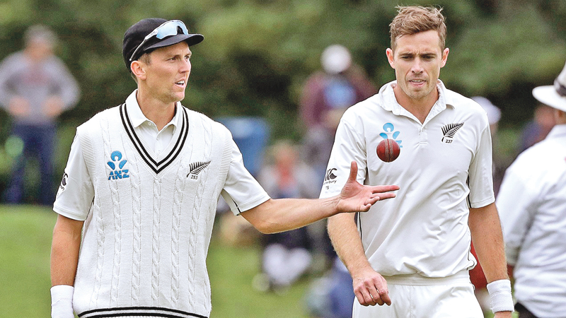 New Zealand's deadly pair of opening bowlers Trent Boult and Tim Southee.