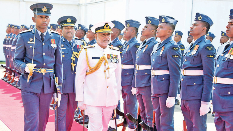 A Guard of Honour for the outgoing Navy Commander Admiral S.S. Ranasinghe.