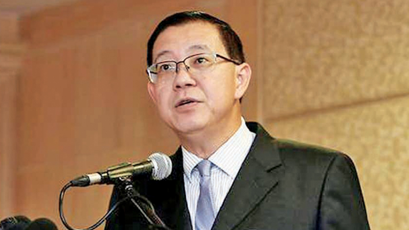 Malaysia's Finance  Minister, Lim Guan Eng