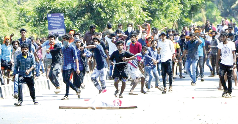 Mobs on the rampage after the Sabarimala temple issue in Kerala state.