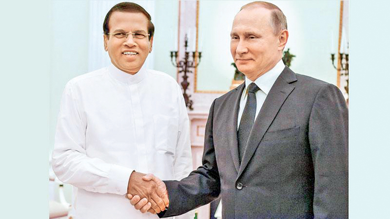 President Sirisena's meeting with President Putin of the Russian Federation was the first state visit by a Sri Lankan head of State for many years