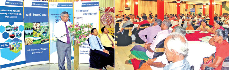 Commercial Bank Assistant General Manager Personal Banking Delakshan Hettiarachchi addressing the audience.