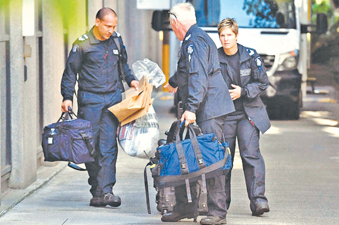Australia police examining suspicious packages sent to diplomatic missions.