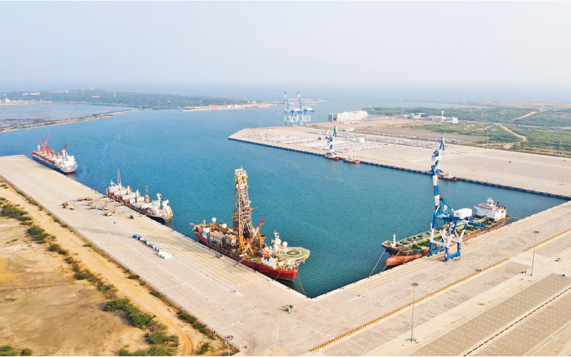 Vessels at Hambantota Port
