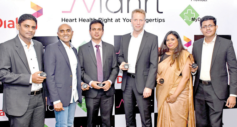Chathura Peiris, Head - Product and Service Innovation, Dialog Axiata, Prabode Weebadde, Chairman, Avidhrt Inc., Dr. Sampath Withanawasam, Consultant Cardiologist - National Hospital of Colombo, Dr. Rainer Deutschmann, Group Chief Operating Officer - Dialog Axiata, Dr. Wasanthi Subasinghe, PhD (USA), Senior Lecturer - Faculty of Medicine, University of Kelaniya and Sameera Wijerathna, Director/CEO, My Health Solutions Private Limited