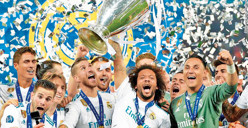 Real Madrid top the rich list for a record 12th time.