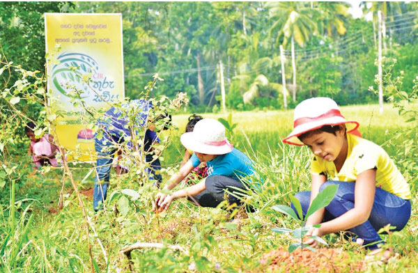 Tiara inspires children to plant trees keeping environment healthy and green