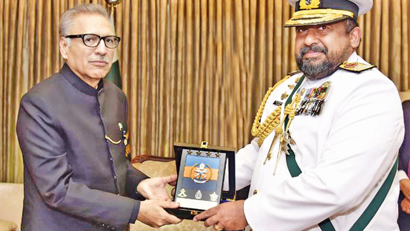 The Chief of Defence Staff of Sri Lanka, Admiral Ravindra C. Wijegunaratne was awarded the Nishan-e-Imtiaz (Military) Medal by the President of Pakistan at a special investiture held in Islamabad, Pakistan on Wednesday.