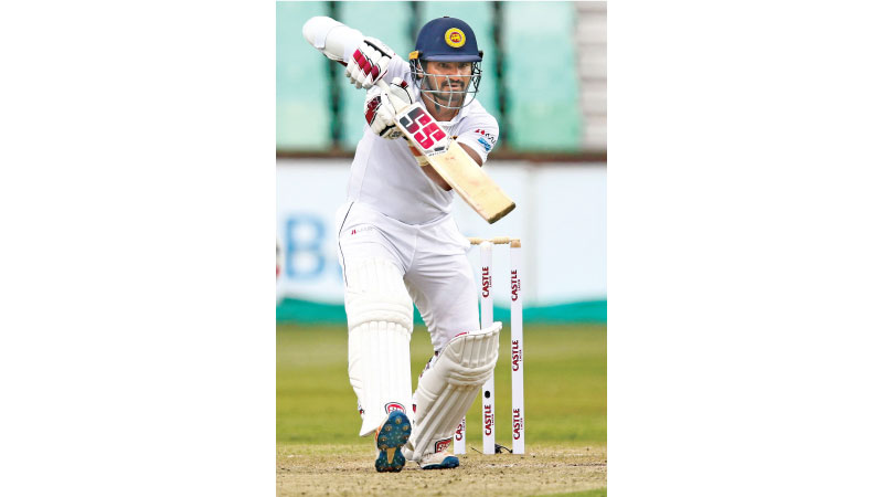 Sri Lanka's Kusal Perera bats the ball during day 2 of the first test match between South Africa and Sri Lanka held at the Kingsmead Stadium in Durban, on Thursday. AFP