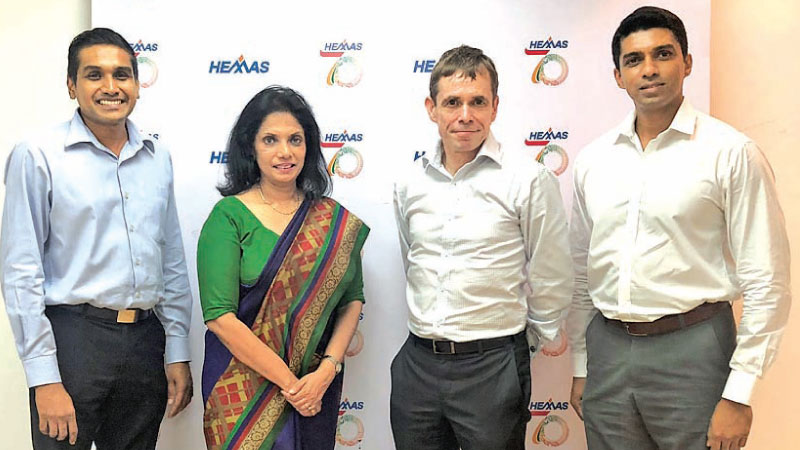 Chulendra De Silva, Co-Founder and Partner of InterBalance, Shiromi Masakorala, General Manager – Group Sustainability and Corporate Communication of Hemas Holdings, Steven Enderby, Group CEO of Hemas Holdings and Charith Jayasundera, Co-Founder and Partner of InterBalance
