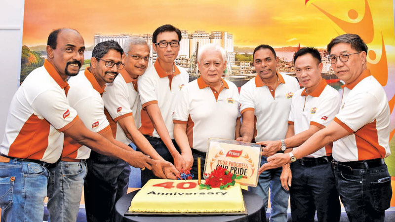 (From Left to Right) Ranjan Amarasinghe – Principal, Prima Baking Training Centre,Dharshana de Silva – Asst. Group General Manager, Prima Group, Sri Lanka, Sunil Leeniyagoda - Director/ Group Treasurer, Prima Group, Sri Lanka, Ong Jhon Seon-General Manager, Prima Ceylon (Pvt.) Ltd., Tan Beng Chuan - Group General Manager, Prima Group, Sri Lanka, Ravindra de Coonghe- Head of Sales and Marketing, Prima Ceylon (Pvt) Ltd., Cheng Yueh-Chin  Factory Manager, Prima Ceylon (Pvt )Ltd., Steven Kok -District Manager,
