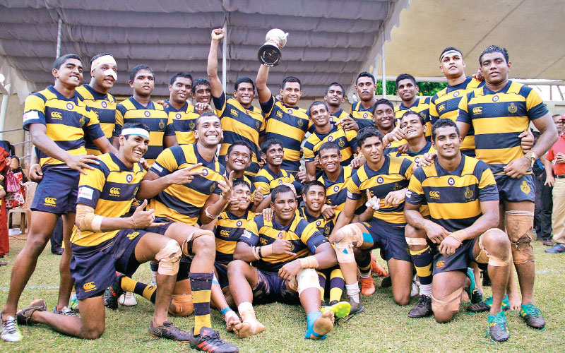 Champion Royal team celebrating their victory. Picture by Dushmantha Mayadunne