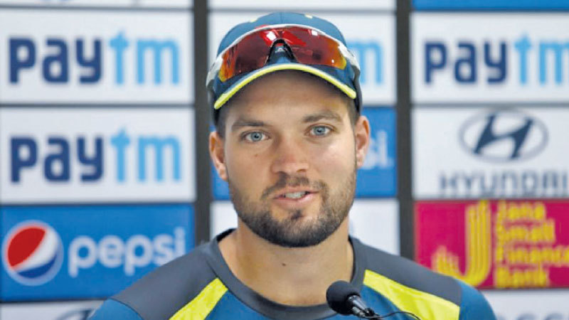 Australia's Alex Carey addresses a press conference ahead of the fifth ODI match against India at Feroz Shah Kotla Stadium on Tuesday.