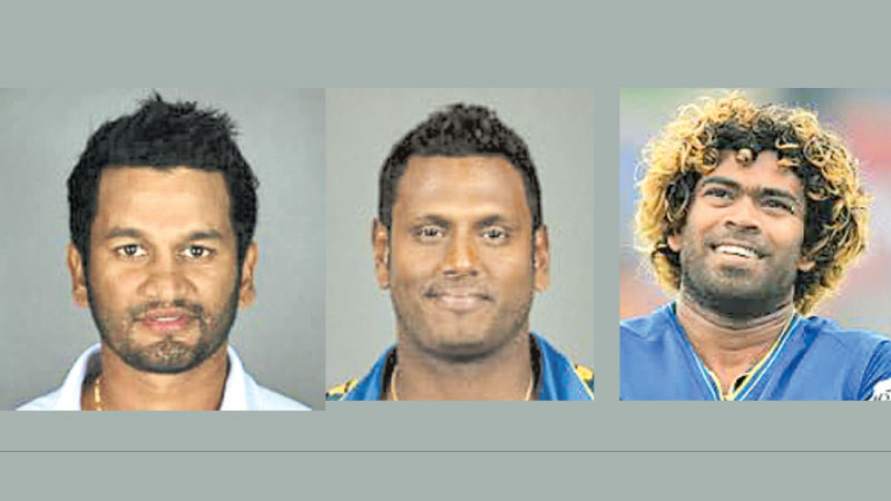 In line for World Cup captaincy: Dimuth Karunaratne, Angelo Mathews, Lasith Malinga.