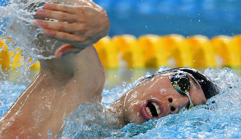 Olympic swim champion Kosuke Hagino was one of Japan's best hopes for a swimming gold medal next year at Tokyo 2020. AFP