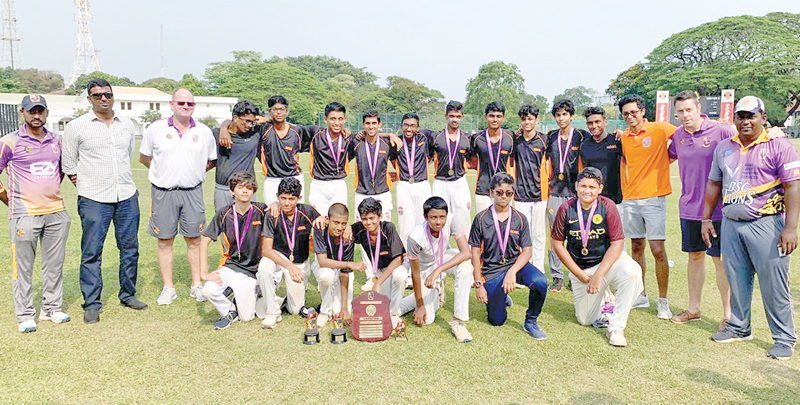 Nobel House Cricket Team with officials