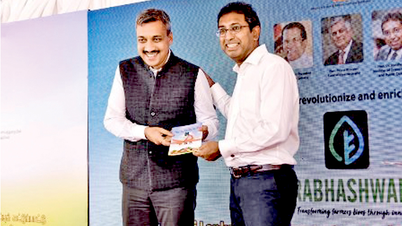 The foundation laying ceremony of the 5 ,000 MT temperature and humidity controlled warehouse for agri produces was held in Dambulla on Saturday. Here Minister Dr Harsha De Silva with Deputy High Commissioner of India, Dr. Shilpak N. Ambule at the event