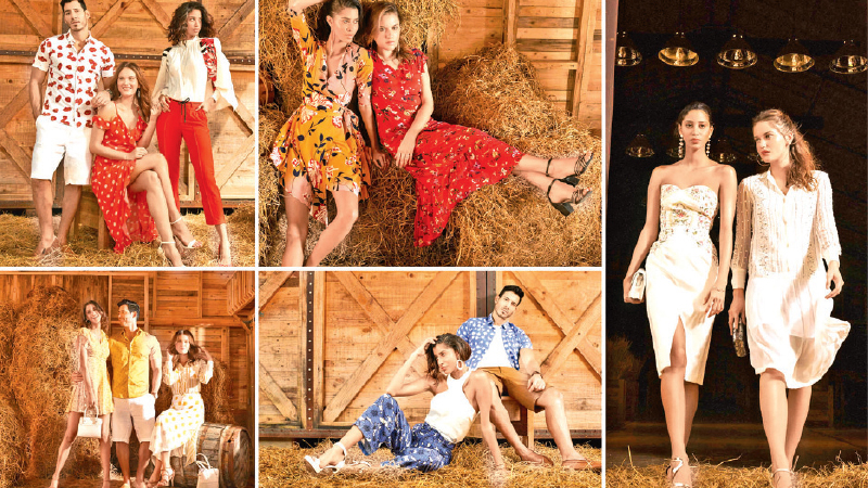 Pictured here are some of the creations from ODEL's Summer 2019 collection.