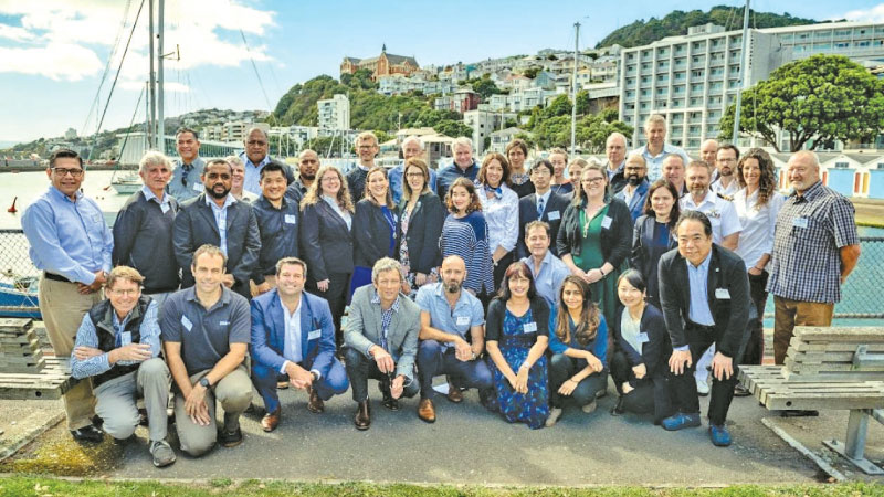Participants at The Nippon Foundation-GEBCO Seabed 2030 Project regional mapping meeting for the South and West Pacific Ocean gathered in Wellington, New Zealand